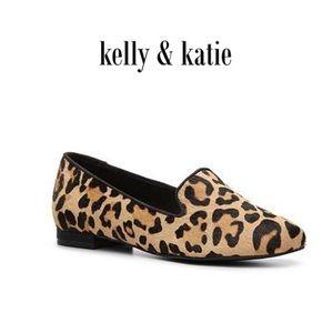 Kelly & Katie Dandy Leopard Pony Hair Flats